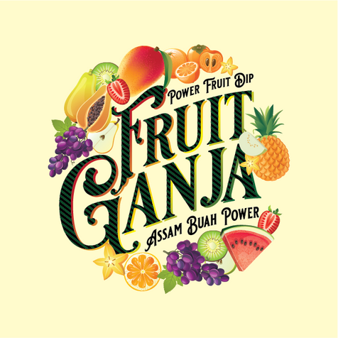 Fruit Ganja Product label and logo design