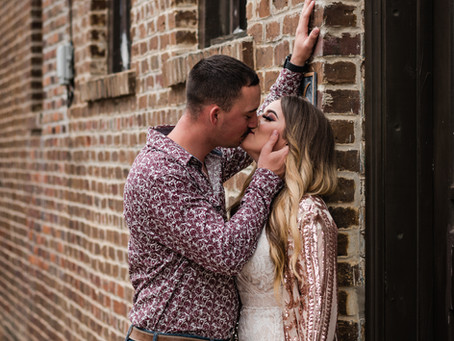 Heather & Richie's Engagement Session | Downtown Nacogdoches, Texas