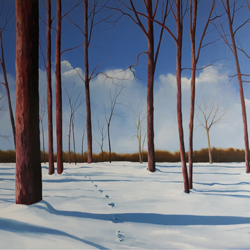Footprints in the Snow 36x48