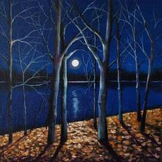 'Moonlit'8x8in.
