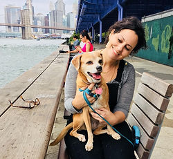 Becky Lazinger and her dog Foxy