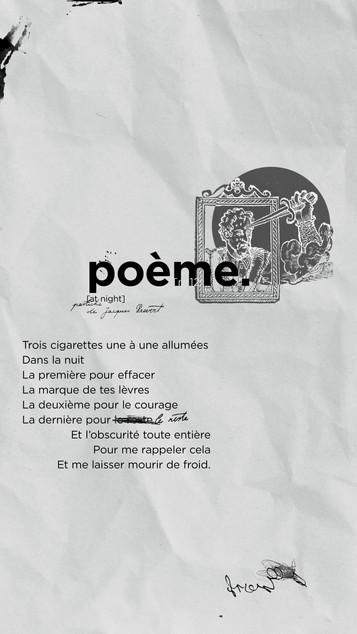 poème n°12 - at night (pastiche de Jacq
