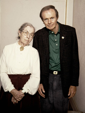 HUBER SELBY AND HIS MOTHER