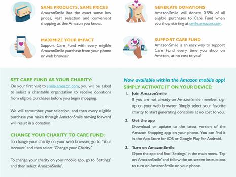 Support Care Fund via AmazonSmile