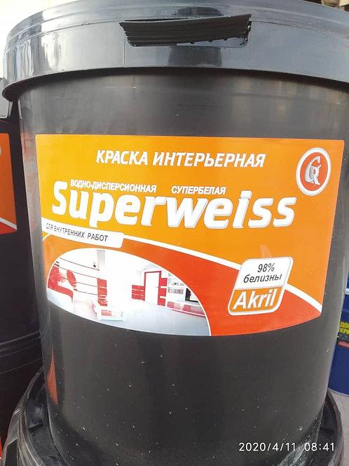 Краска интерьерная Superweiss 40кг