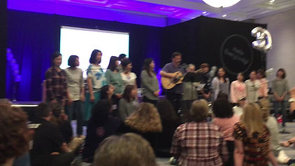 """The beautiful """"Love Song of Kangding,"""" sung at the MT Annual Conference. May 2018, by MT Teachers and Directors from China and Taiwan with Uncle Gerry!"""