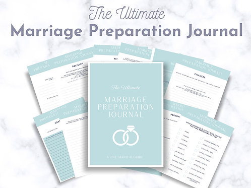 Ultimate Marriage Preparation Guided Journal- Pre Marital Counseling Workbook- Pre Cana- Wedding Prep- Engagement Journal