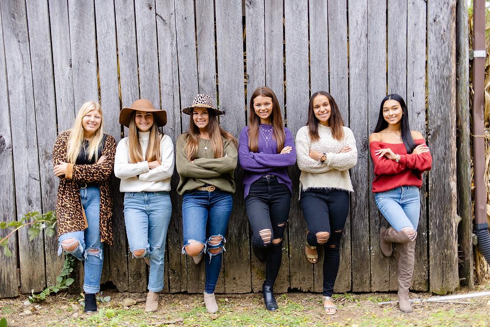 nashville senior portraits nashville; tn photographer senior squad; gina co photography; senior squad, waldens pumpkin patch, pumpkin patch nashville