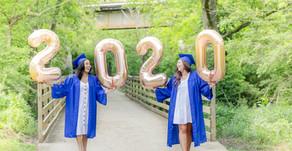 2020 Senior Squad Cap & Gown Photoshoot