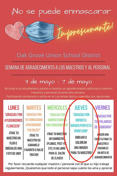 OGUSD Teacher Appreciation 2021 Spanish
