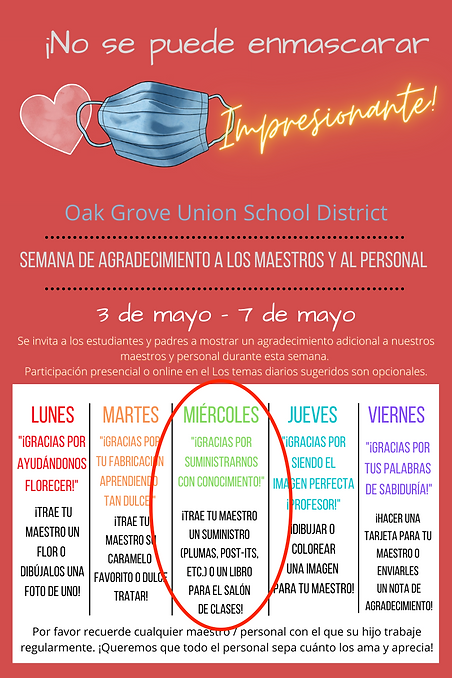 OGUSD Teacher Appreciation 2021 Spanish