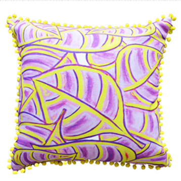 Violet Vine Cushion Cover