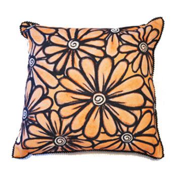 Orange Daisy Cushion Cover