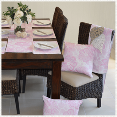Serenade Pink Table Runner