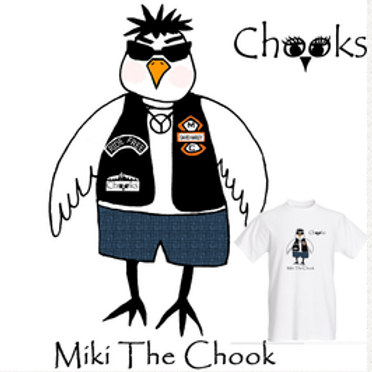 Mens T-shirt, Miki the Chook