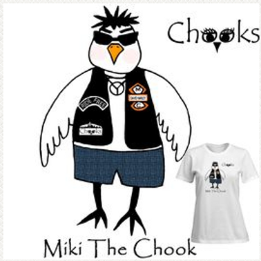 Womens T-shirt, Miki The Chook