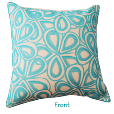 Aqua Love Note Cushion Cover one