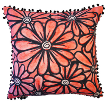 Red Daisy Cushion Cover