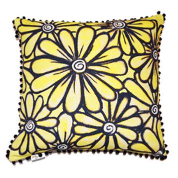 Yellow Daisy Cushion Cover