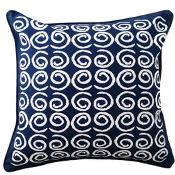 Royal Blue Swirl Cushion cover