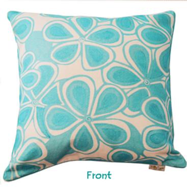 Aqua Love Note Cushion Cover two