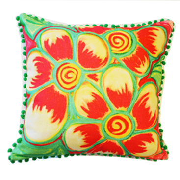 Ella Red Cushion Cover