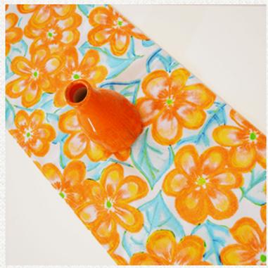 Blossom Orange Crush Table Runner