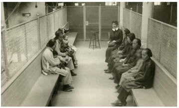 Chinese women detainees at Angel Island in San  Francisco, hoping to immigrate to America. California Historical Society