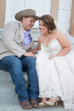 Country wedding giggles