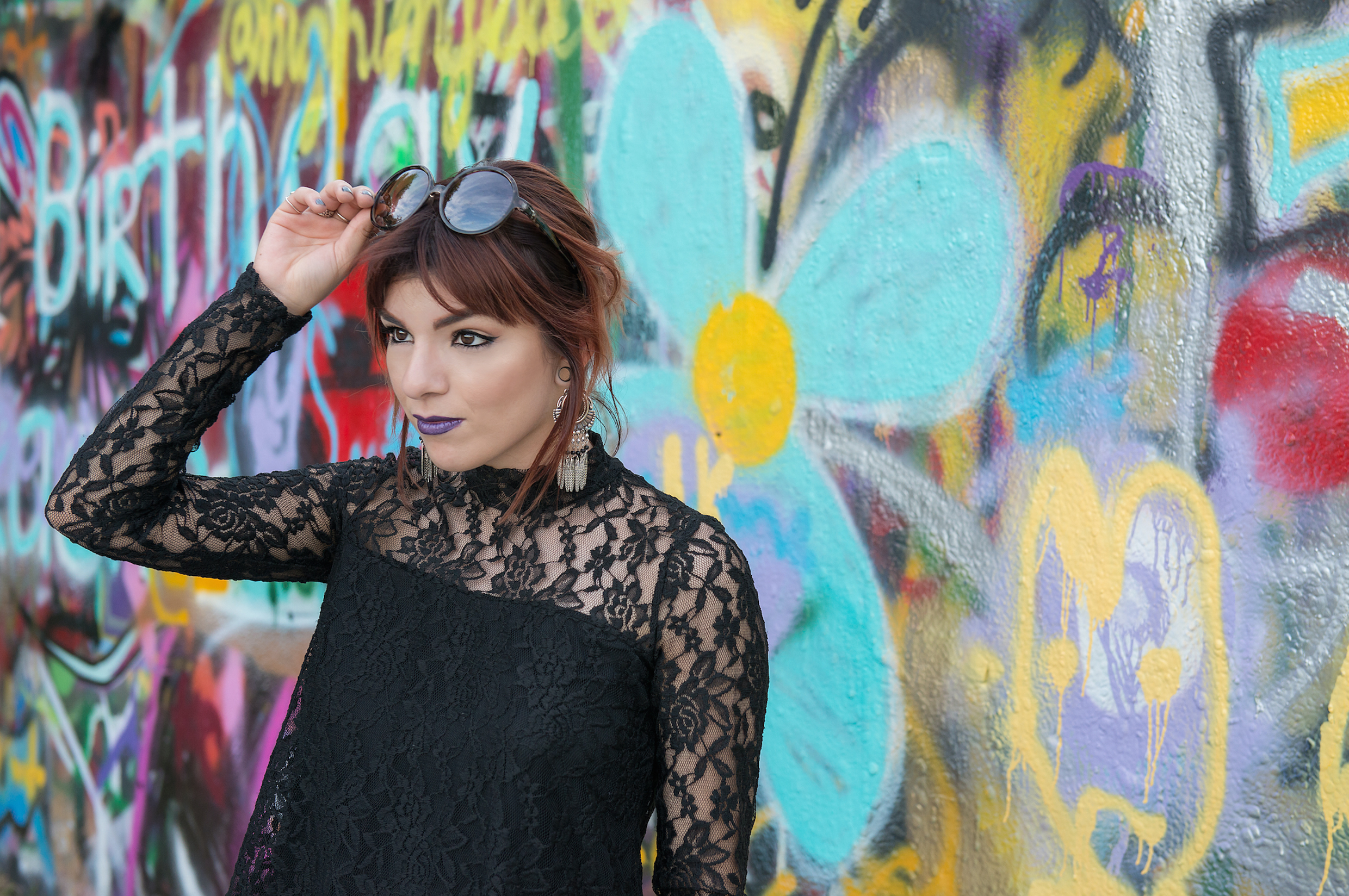 Beauty at a Graffiti Wall-