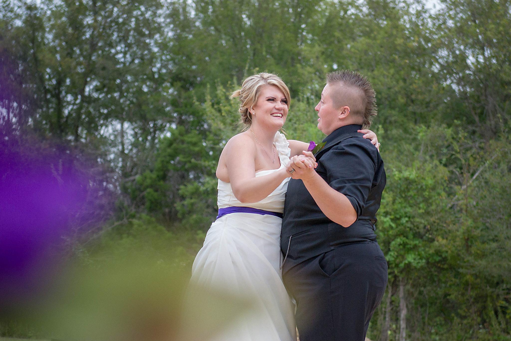 Rebekah and Rachel's first dance