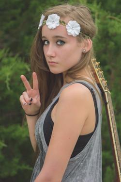 Hippie-Styled-Model-Flower-Peace-Guitar