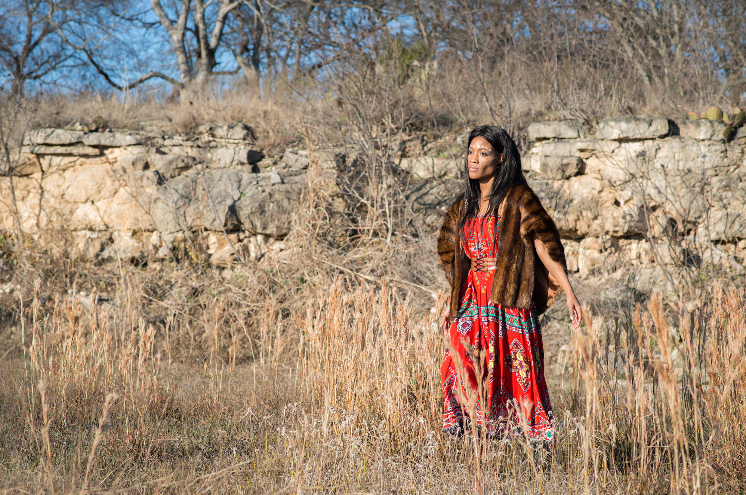 Native American-Styled Photoshoot-Model