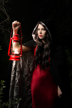 Fairytale-Styled Model-Nighttime
