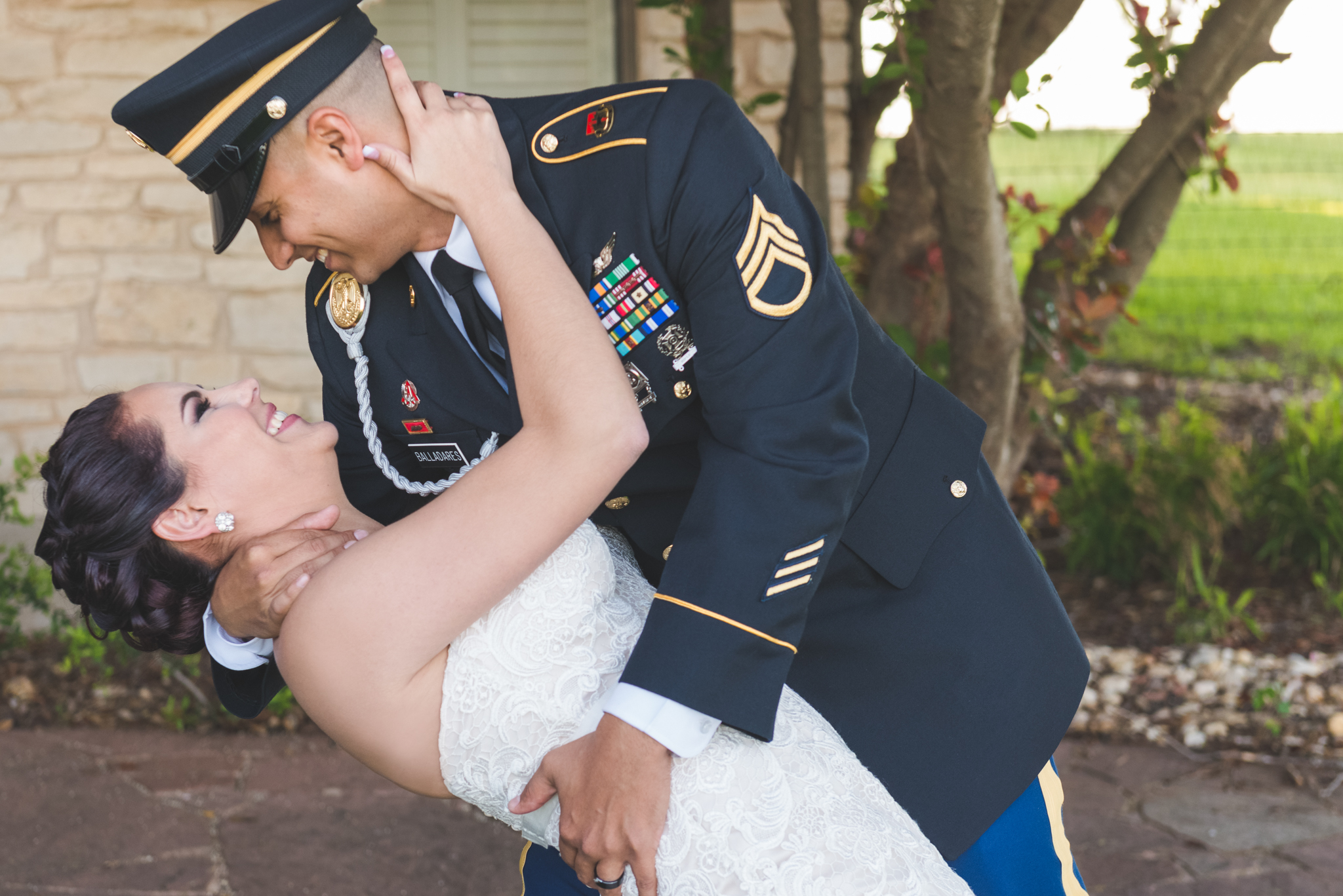 In the arms of her soldier