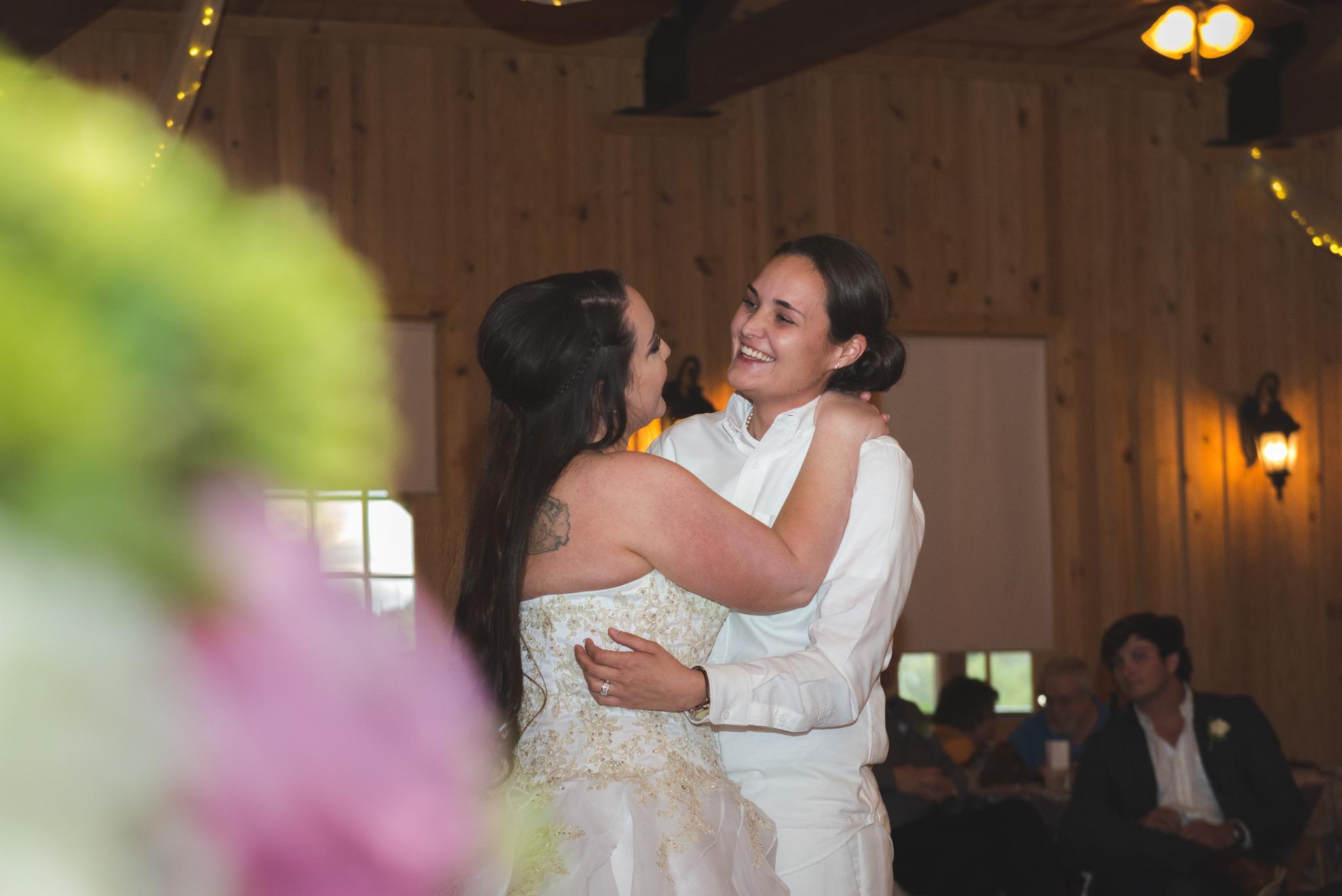 Tiffanie and Kaylyn's first dance