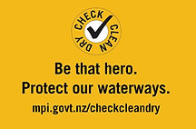 Check, Clean, Dry protect waterways
