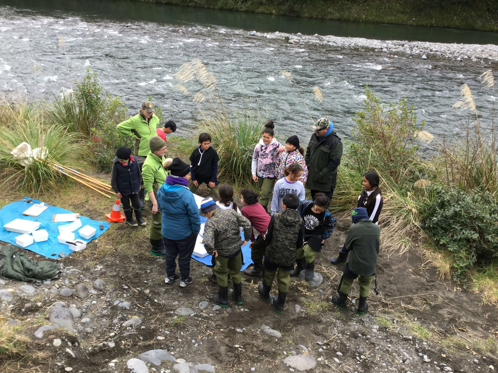 Students at the River
