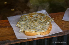 Whitebait fritter by Shellie Evans