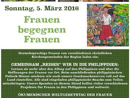 Jetzt Sonntag, 5. März: Weltgebetstag der Frauen
