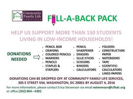 Fill-a-back pack-Aktion von CFLS - jetzt mitmachen!
