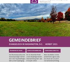 Der Herbst-Gemeindebrief ist erschienen