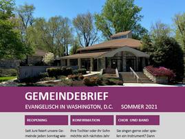 Gemeindebrief Sommer 2021 erschienen