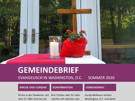 Neuer Gemeindebrief Sommer 2020 ist da