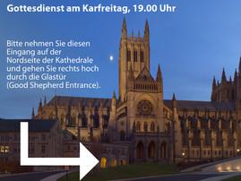 Karfreitag: Wir feiern um 19.00 Uhr in der National Cathedral
