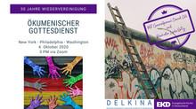 Gottesdienst 30 Jahre Wiedervereinigung am 4. Oktober um 15 Uhr