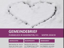 Die Winterausgabe unseres Gemeindebriefes ist da