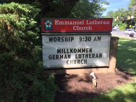 Erster Gottesdienst in unserer neuen Kirche
