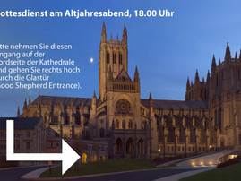 31. Dezember: Gottesdienst in der National Cathedral