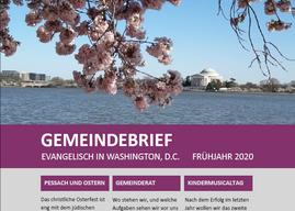 Der Gemeindebrief Frühjahr 2020 ist erschienen